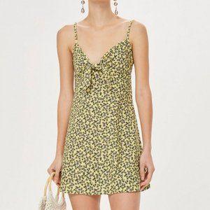 PETITE Ditsy Knot Front Slip Dress